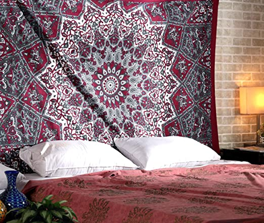 Trippy Hippie Mandala Art Tapestry Room Decorative Wall Hanging Throw Tapestries