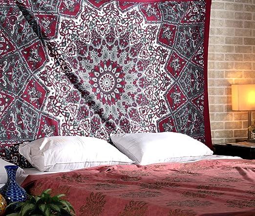 Multi Star Mandala Bedspread Tapestry Wall Hanging Bed Sheet Blanket Twin