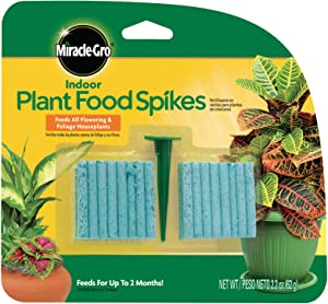 Miracle-Gro Indoor Plant Food Spikes, Includes 48 Spikes - Continuous Feeding for all Flowering and Foliage Houseplants - NPK 6-12-6, 12 Packs of 48 Spikes