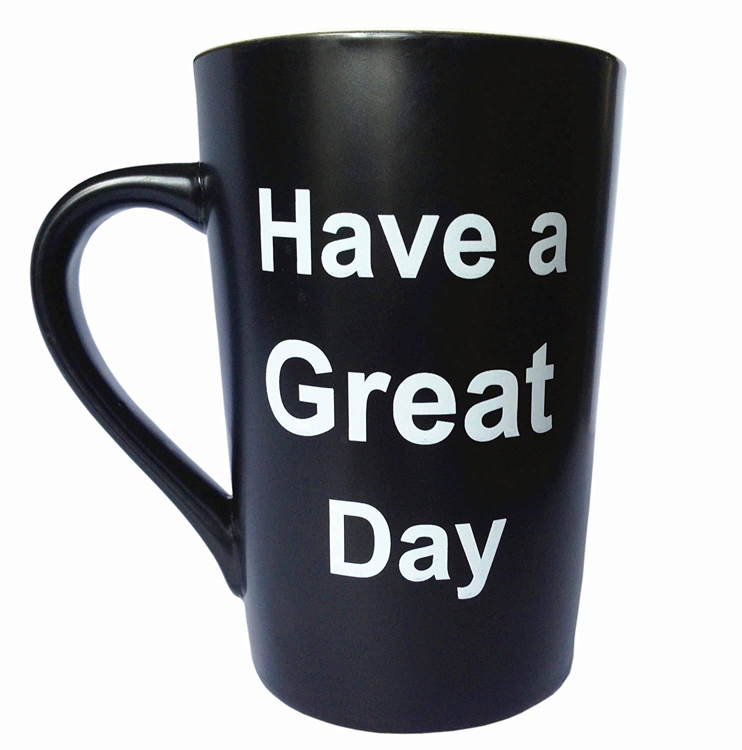 Porcelain Coffee Mug Have a Great Day with Finger on the Bottom Cute Cool Ceramic Cup Black MAUAG Funny Unique Christmas Gifts 13 Oz Best Father/'s Day and Mother/'s Day Gag Gifts LT great mug black-1 Best Fathers Day and Mothers Day Gag Gifts