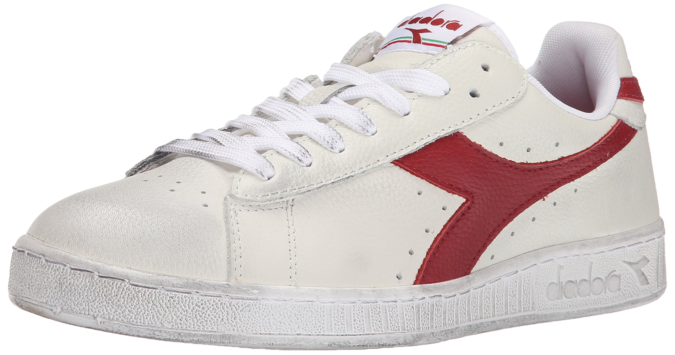 Diadora Game L High Waxed Skate Shoe, White/Red Pepper, 11 M US by Diadora