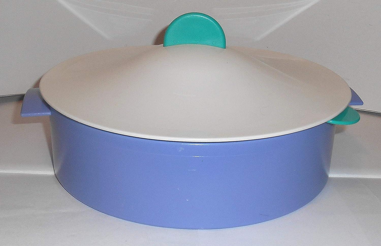 Vintage Tupperware 3 Piece Micro-Steamer - Purple, Green & White
