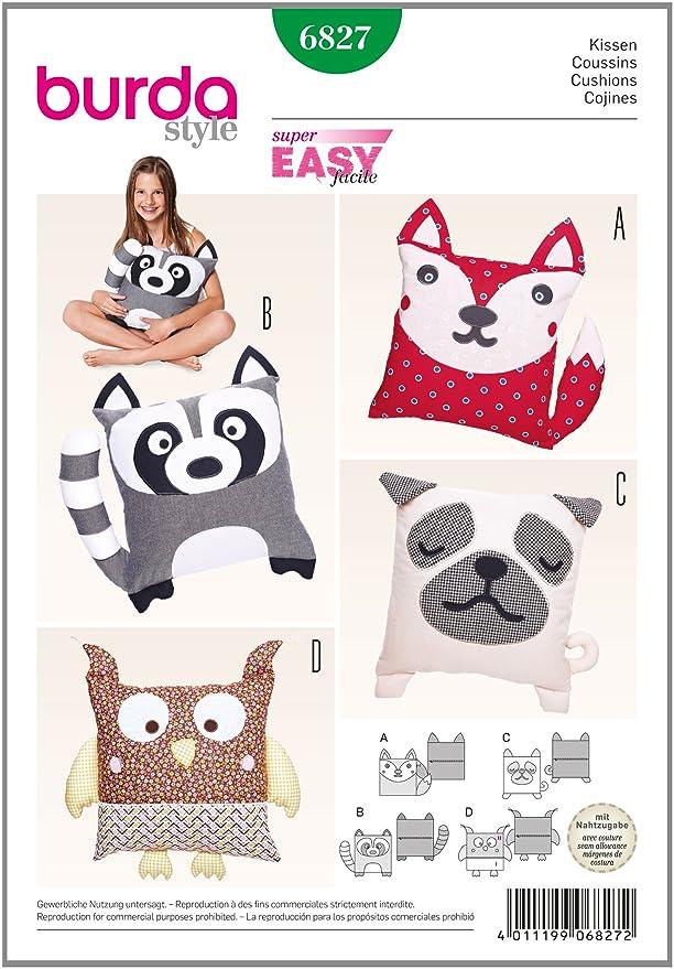 Amazon.com: Burda patrón de costura para Animal Cojín Súper ...