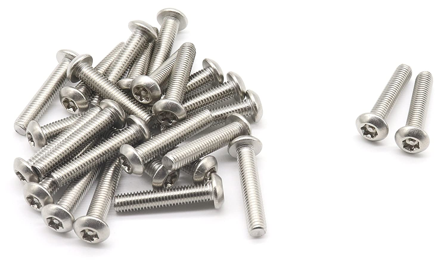 Qty 10 Button Post Torx M4 x 50mm Stainless T20 Security Screws Tamperproof