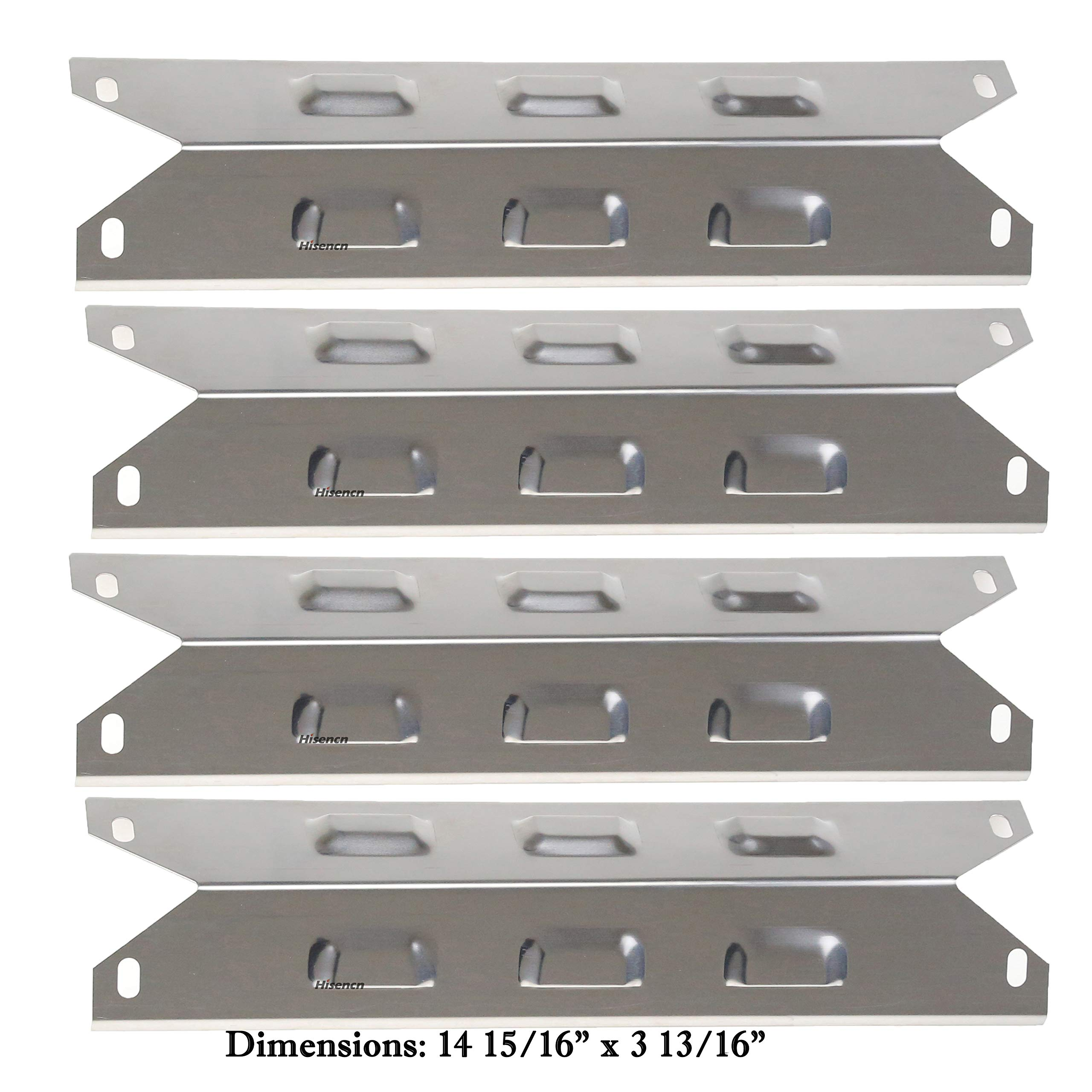 Hisencn BBQ Stainless Burner Tube, Heat Plates Tent Shield, Burner Cover, Adjust Crossover Tube Replacement for BBQ-pro 146.2367631, Kenmore 146.10016510, 146.16198211, 146.16197210 Gas Grill Models by Hisencn (Image #5)