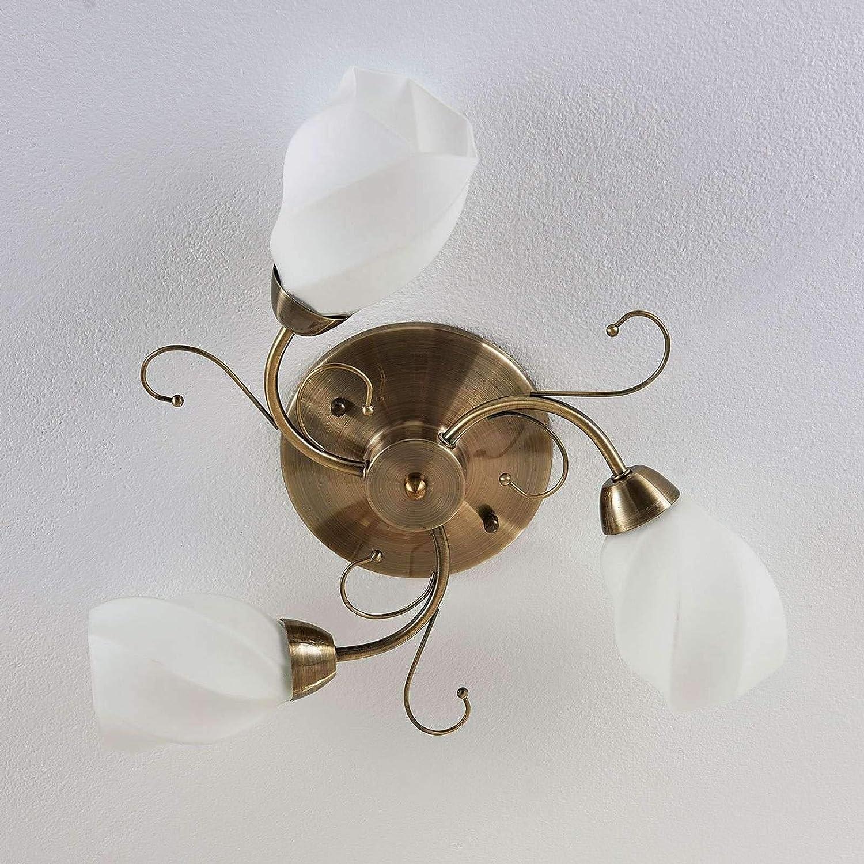 Leuchten Leuchtmittel Rustikale Deckenleuchte Blatter Ranken Wohnzimmer Landhaus Stil Glasstrahler E14 Buro Schreibwaren Djmall Co Il