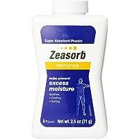 Zeasorb Prevention Super Absorbent Powder, Foot Care, 2.5-Ounce Bottle