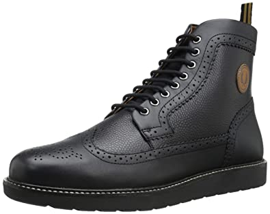 Herren Black Stiefel Fred Perry Northgate 8 Uk 3c5RjLq4AS