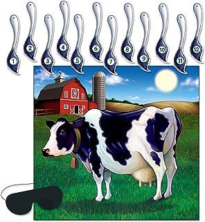 Beistle 66676 Der Schwanz auf dem Kuh-Spiel, 17-Zoll durch 18-1 / 4-Zoll