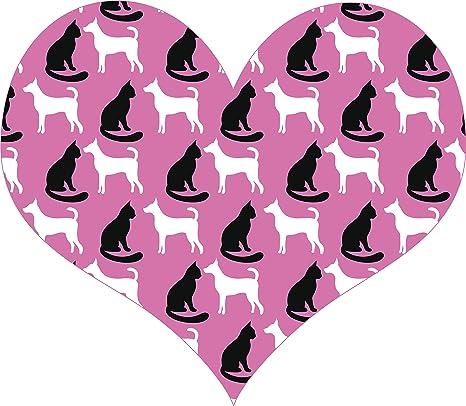 Amazon.com: Pegatina de vinilo con diseño de perro y gato ...