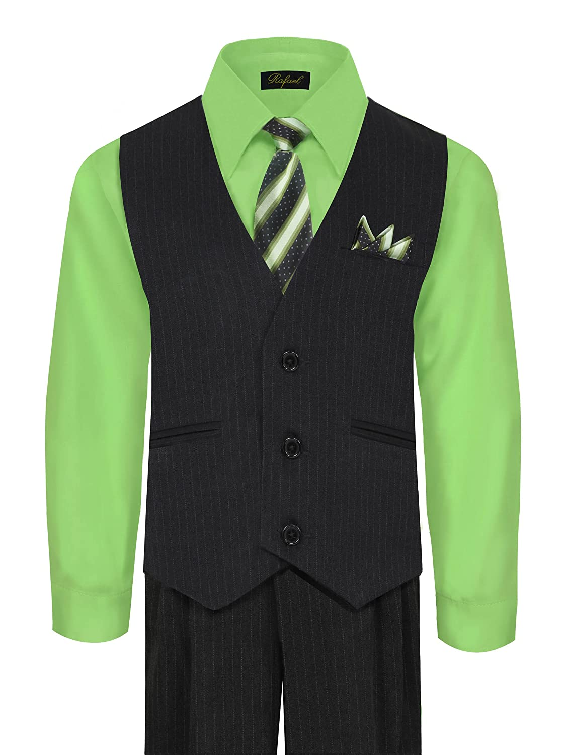 Boy's Vest and Pant Set, Includes Shirt, Tie and Hanky - Many Colors Available Boy' s Vest and Pant Set
