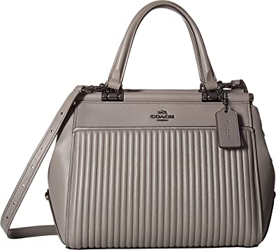 Amazon.com  COACH Women s Drifter Satchel in Quilted Leather Dk Heather  Grey One Size  Shoes a8f7ea406e5e5