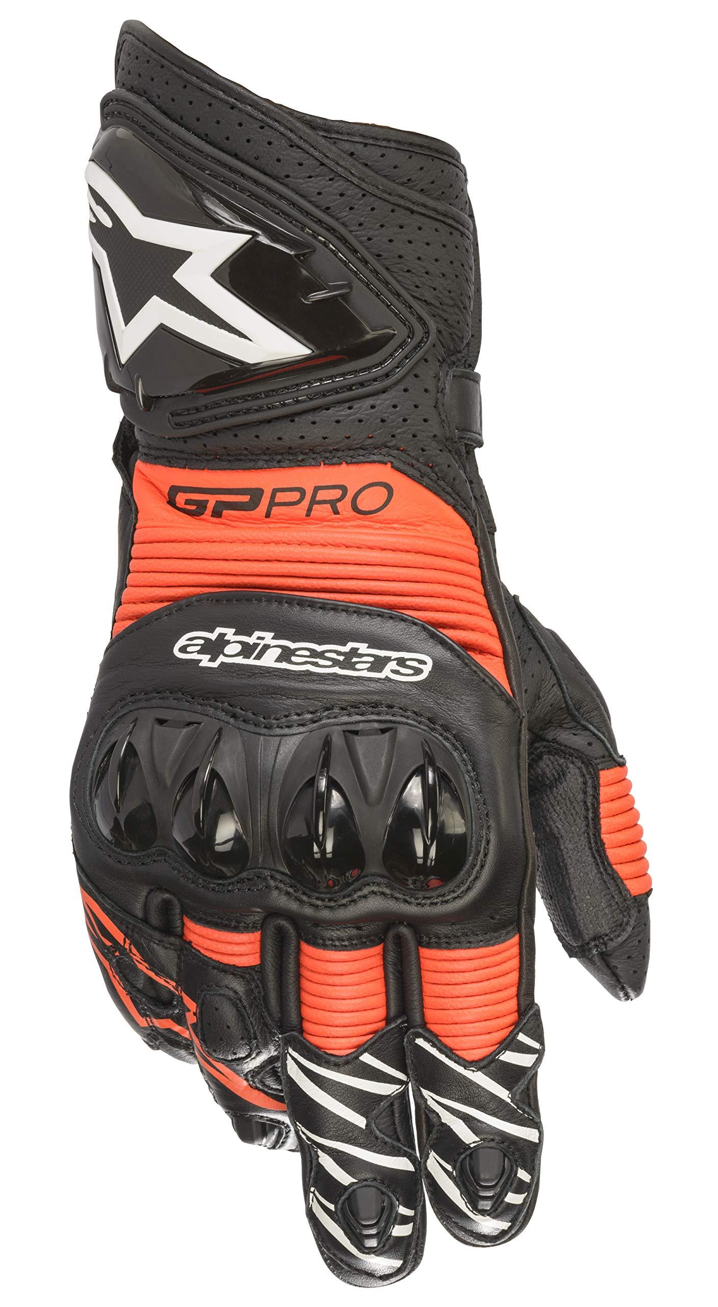 Alpinestars GP PRO R3 Gloves (X-Large, 1030-Black Red Flourecent)