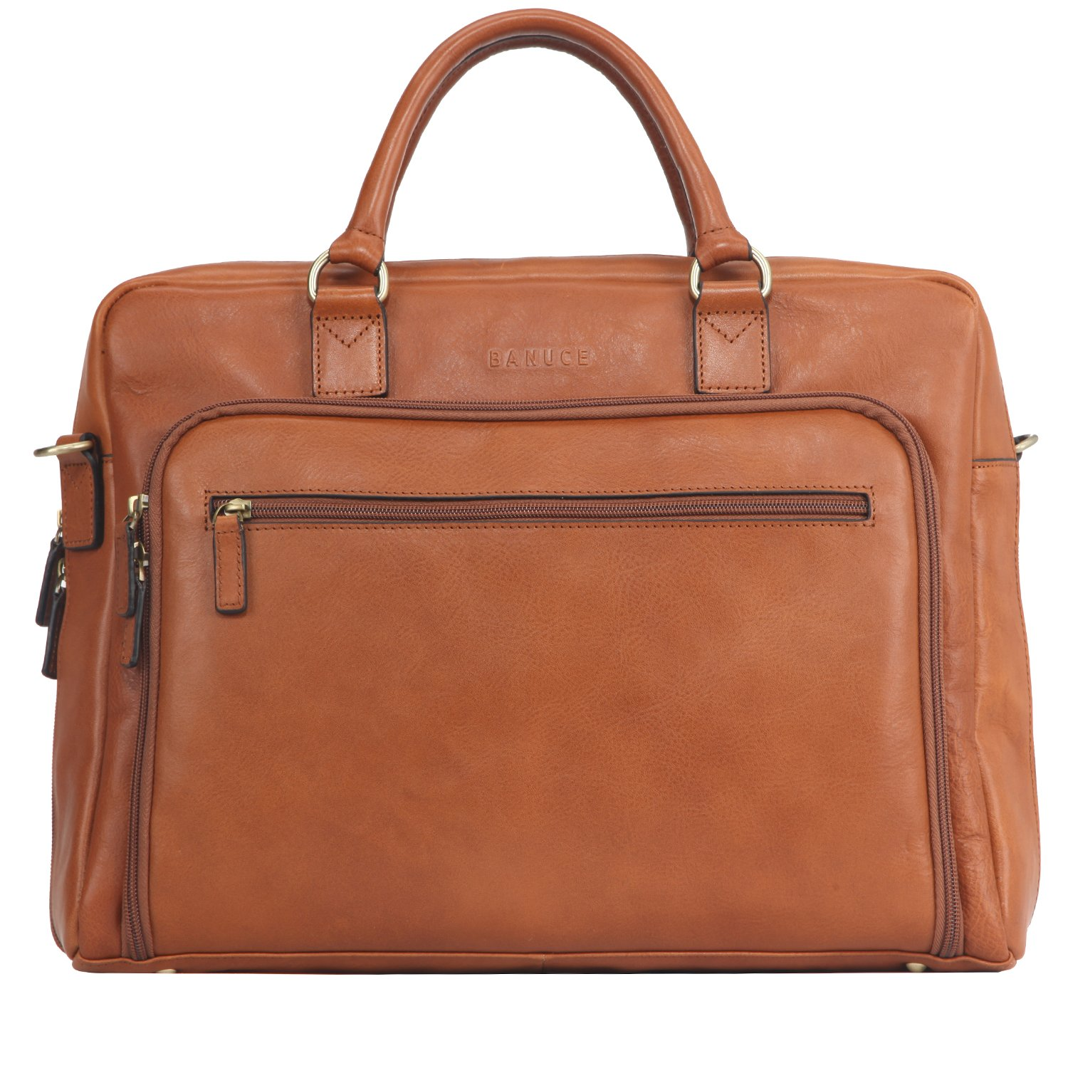 Banuce Italian Leather Business Tote Briefcase Attache Laptop Case by Banuce