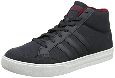 adidas VS SET Mid, Baskets Hautes Homme, Gris (Carbon/Carbon/Collegiate Burgundy 0), 43 1/3 EU