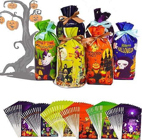 Ghost Treat Holders Trick Or Treat Bags 6 Halloween Ghost Favor Bags