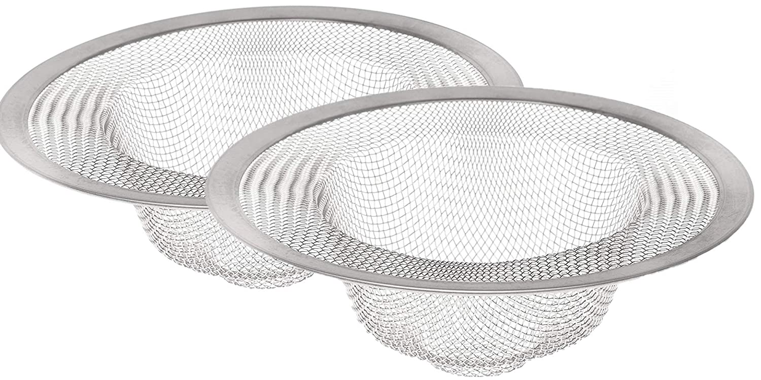 HIC Mesh Sink Strainer, 18/8 Stainless Steel, 4.5-Inches, Set of 2