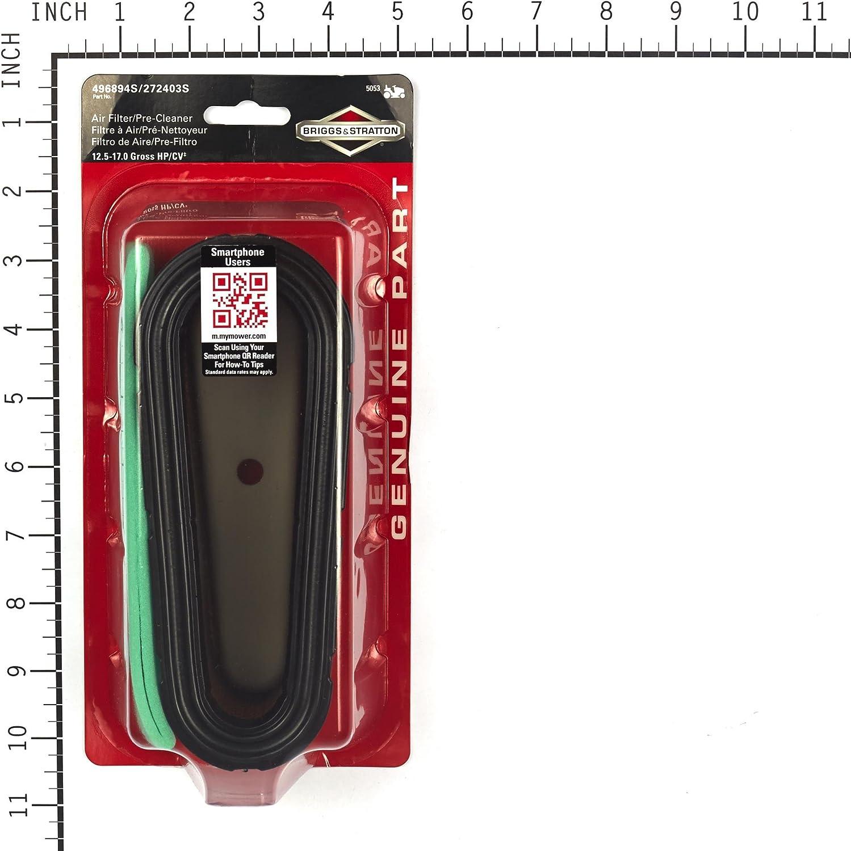 Briggs /& Stratton 5053K Air Filter Cartridge//Pre-Cleaner 12.5-17 HP