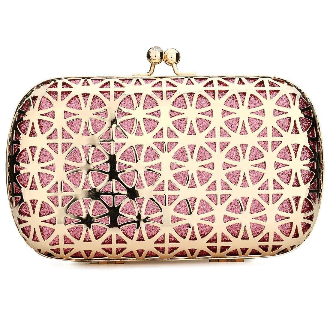 Shiny evening clutch purse fashionable acrylic designer clutch bag evening  clutch handbag for women girls pink 127e3cfe8d0cf