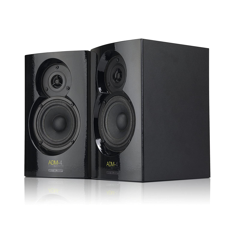'Reloop ADM-32W Black Loudspeaker–Loudspeakers (PC, 2-Way, Tabletop/Bookshelf, Built-in, 2.54cm (1