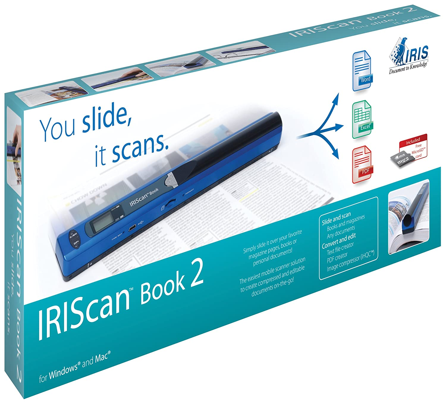 I.R.I.S. IRIScan BOOK 2 Scanner Handheld/manuale 457368