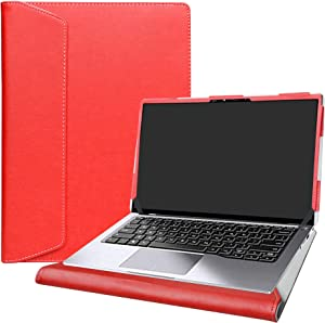 """Alapmk Protective Case Cover for 14"""" Dell Latitude 14 2-in-1 7400/Dell Latitude 9410 2-in-1 & ASUS ZenBook 14 Q407IQ Q407IQ-BR5N4 Series Laptop[Not fit Latitude 14 7410 7400 7480 7490],Red"""