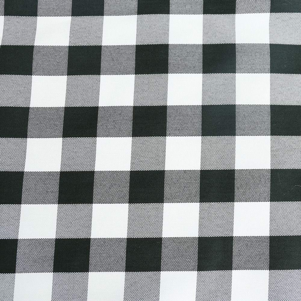TRLYC Polyester Tablecloth 70x120-Inch Rectangular Tablecloth Black & White Checker