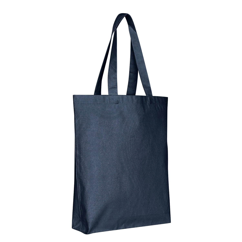 特別セーフ キャンバスReusable ブルー Grocery Tote Bags x – 15 x Tote 15 x 3 – 下部Gusset頑丈なコットンキャンバスバッグレディース、メンズ、ボーイズ、子供、大人、熱転送Blanks、DIY、クラフト、Grocery Shoppingストア One_Size ブルー B07FNCBZBB ネイビー, YOKA TOWN ヨカタウン:942ceca3 --- fbrasil.com