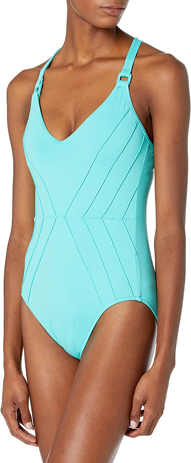 Seafolly Women's Pintuck One Piece Swimsuit with Adjustable Straps