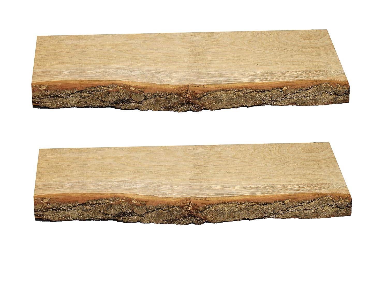 2X Wandboard, Regal, Wandregal, Wildeiche, Massivholz, Baumkante Eiche, Baumkante Massivholz, (2X 120cm mit Baumkante) a139e9