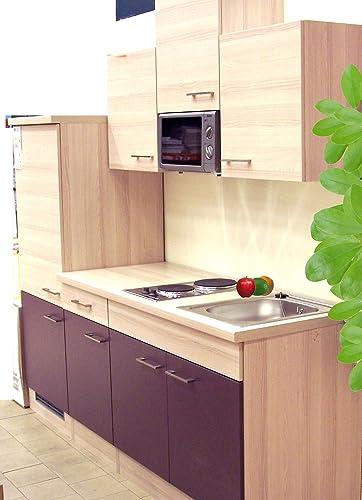 Gastobedarf Mühlan - Bloque de cocina para microondas (acacia, 210 cm), color morado: Amazon.es: Grandes electrodomésticos