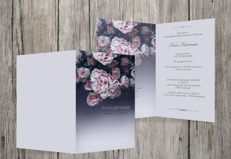 wholesape barato Tarjeta de luto luto rosas, dunklesPetrolBlau, 30 Karten Karten Karten  marcas de diseñadores baratos