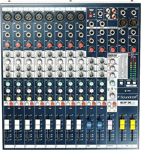 Mesa de mezclas Soundcraft EFX8 Audio: Amazon.es: Instrumentos ...