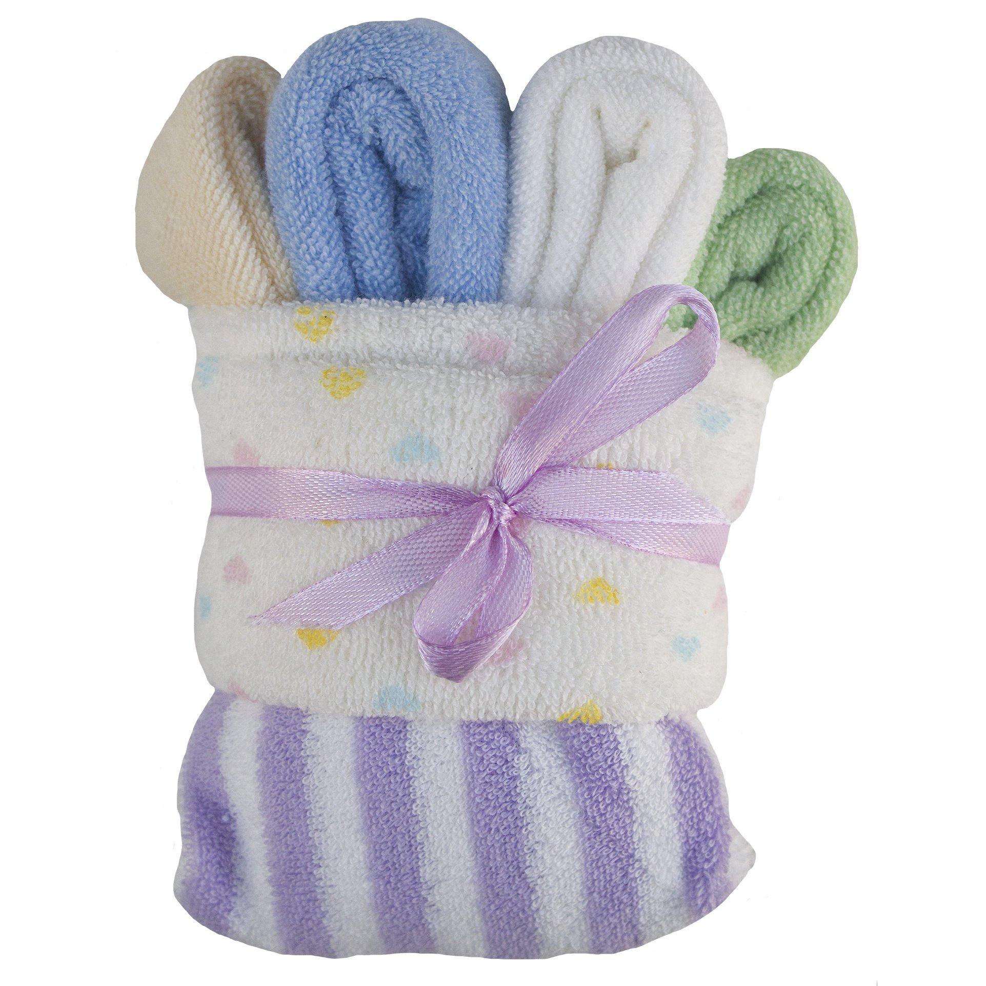 PurpleRain Baby Washcloths, 6 Ultra Soft by purple rain