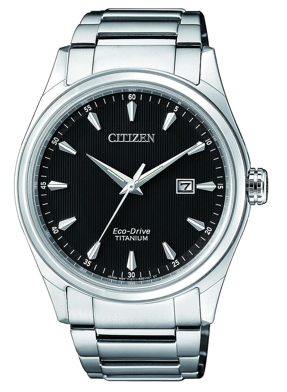 Citizen Reloj Analógico para Hombre de Cuarzo con Correa en Titanio BM7360-82E: Amazon.es: Relojes