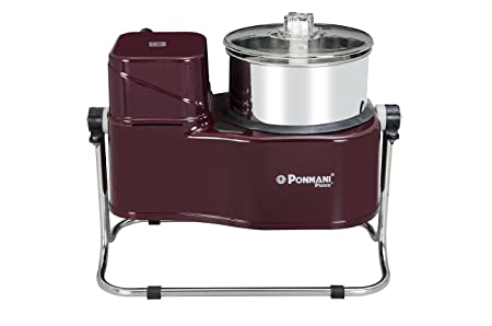 Ponmani Conventional Tilting Wet Grinder, 2L, Maroon Mixer Grinders at amazon