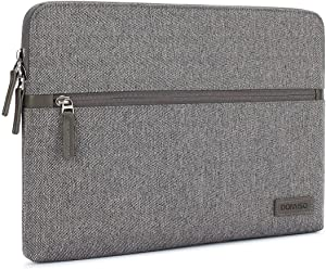 "DOMISO 14 Inch Laptop Sleeve Canvas Fabric Tablet Protective Bag for 14"" Laptops/Apple/Lenovo ThinkPad/Acer Chromebook 14 / HP Pavilion 14 Stream 14 / Dell/ASUS/MSI, Grey"