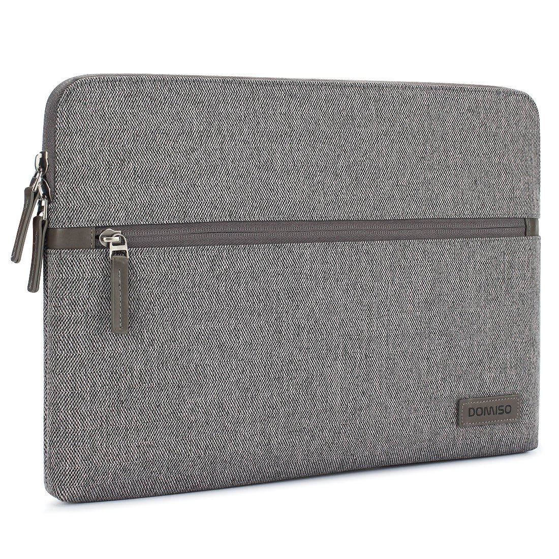DOMISO 13.3 Inch Laptop Sleeve Canvas Tablet Pouch Bag for 13-13.3 Inch Laptops/13'' MacBook Pro Retina/Dell Inspiron 13 XPS 13/Lenovo YOGA 720 13.3''/ASUS/Acer/HP/MSI, Grey