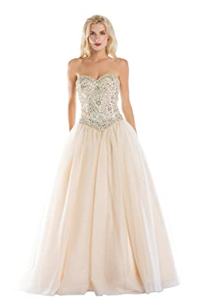 81fa1fc2e75 Image Unavailable. Image not available for. Color  JKamor Beaded With Tulle  Gold Red Sweet 16 Prom Quinceanera Dress