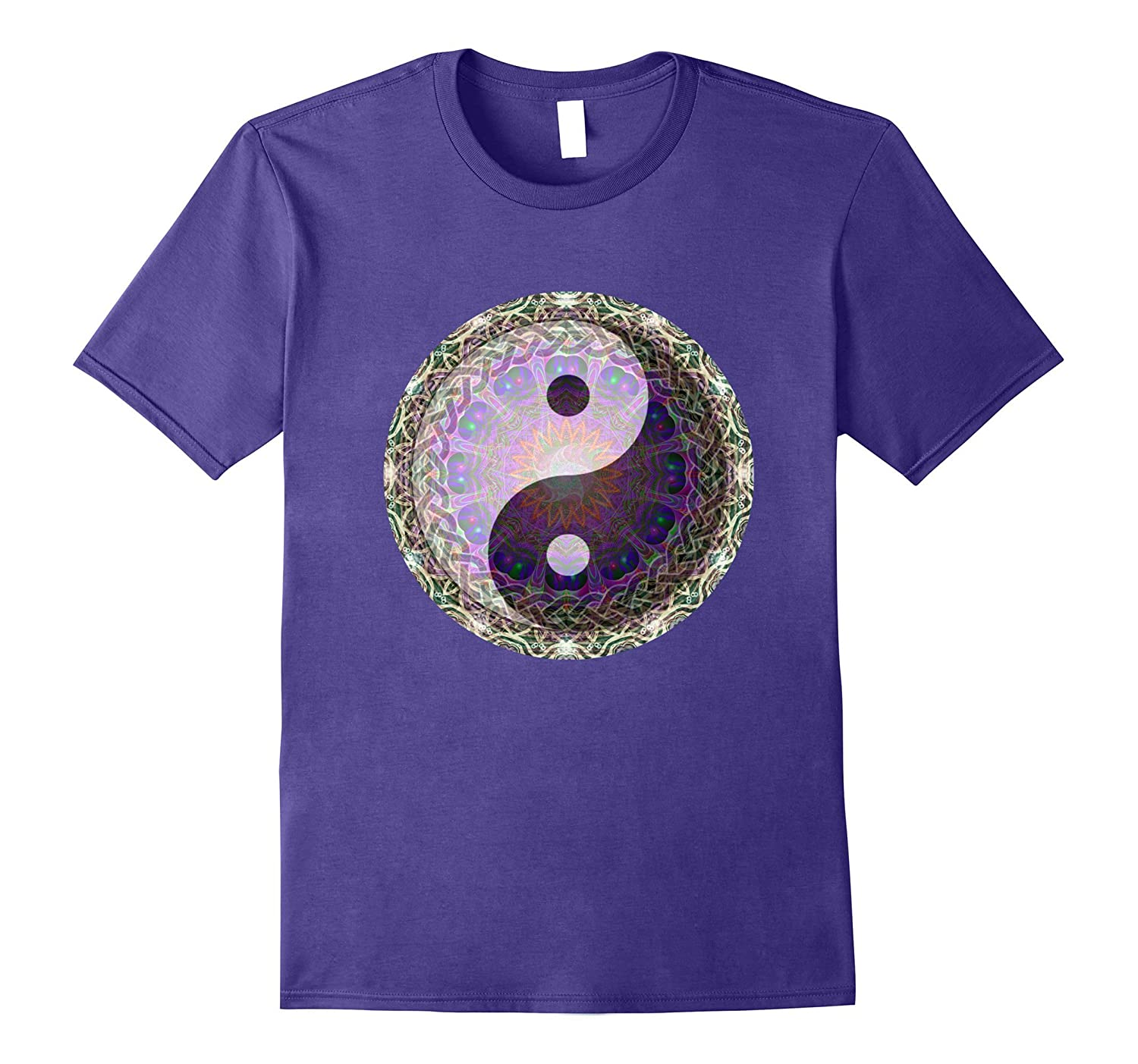 Yin Yang with Sun Mandala T Shirt by Amelia Carrie-TH
