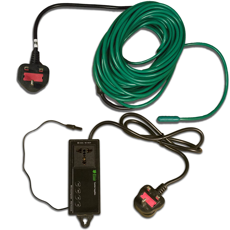 Elixir Gardens 12m Soil Warming Cable + Thermostat Heated Beds Propagator | 80W Elixir Gardens ®