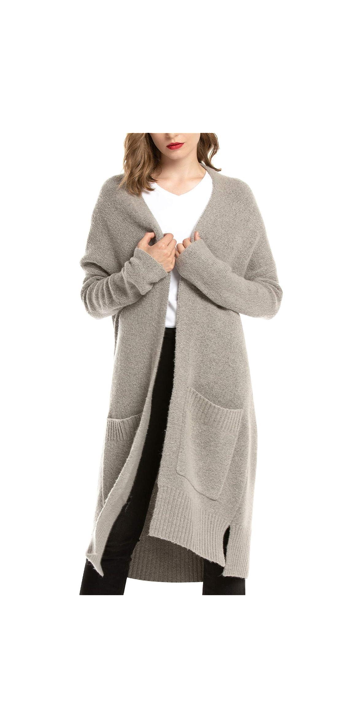Womens Long Cardigan Sweater Chunky Knit Cardigan