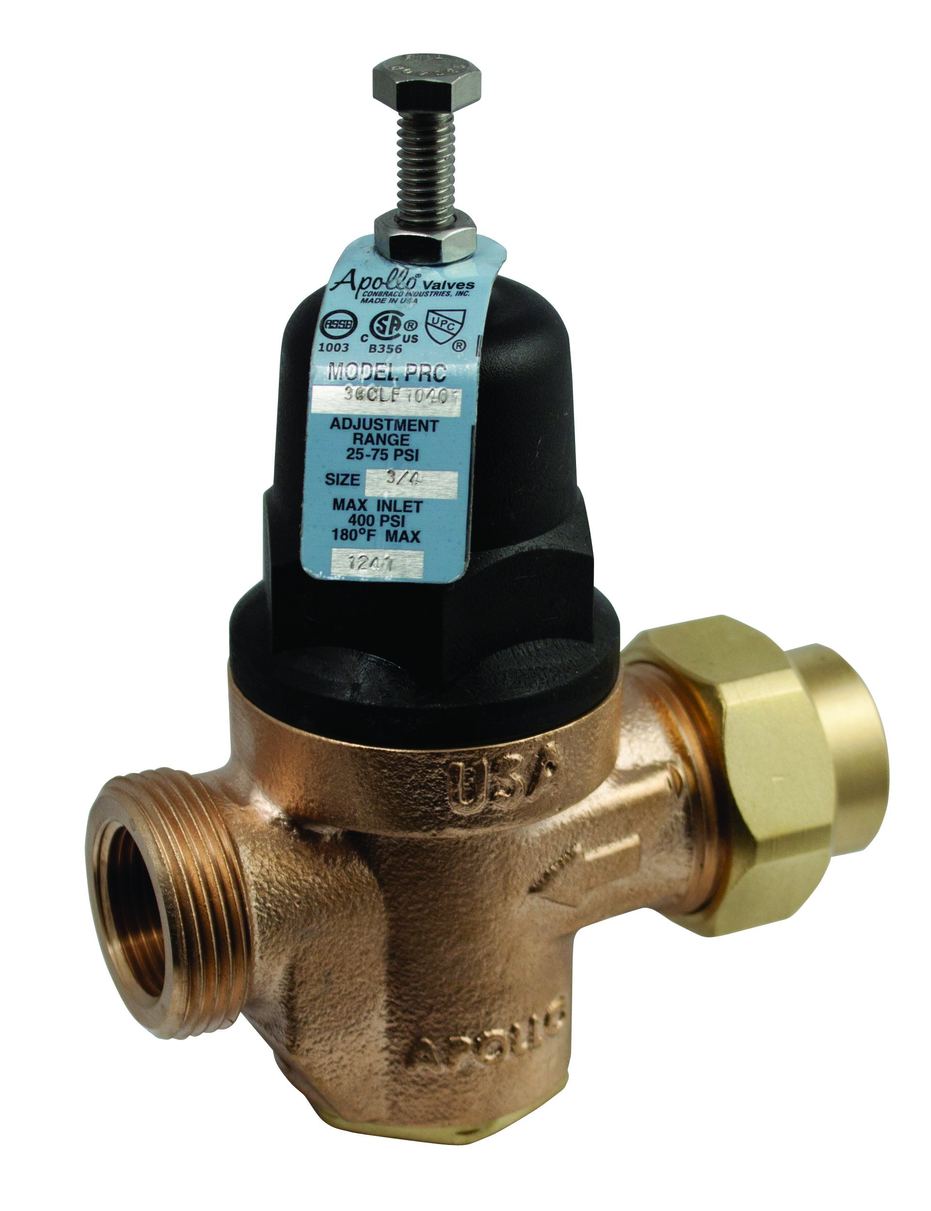 Apollo Valves - 3/8'' Apollo 36CLF-104-01 Pressure Reducing Valve, FPT, 50 - 400 PSI, Bronze Body by Apollo