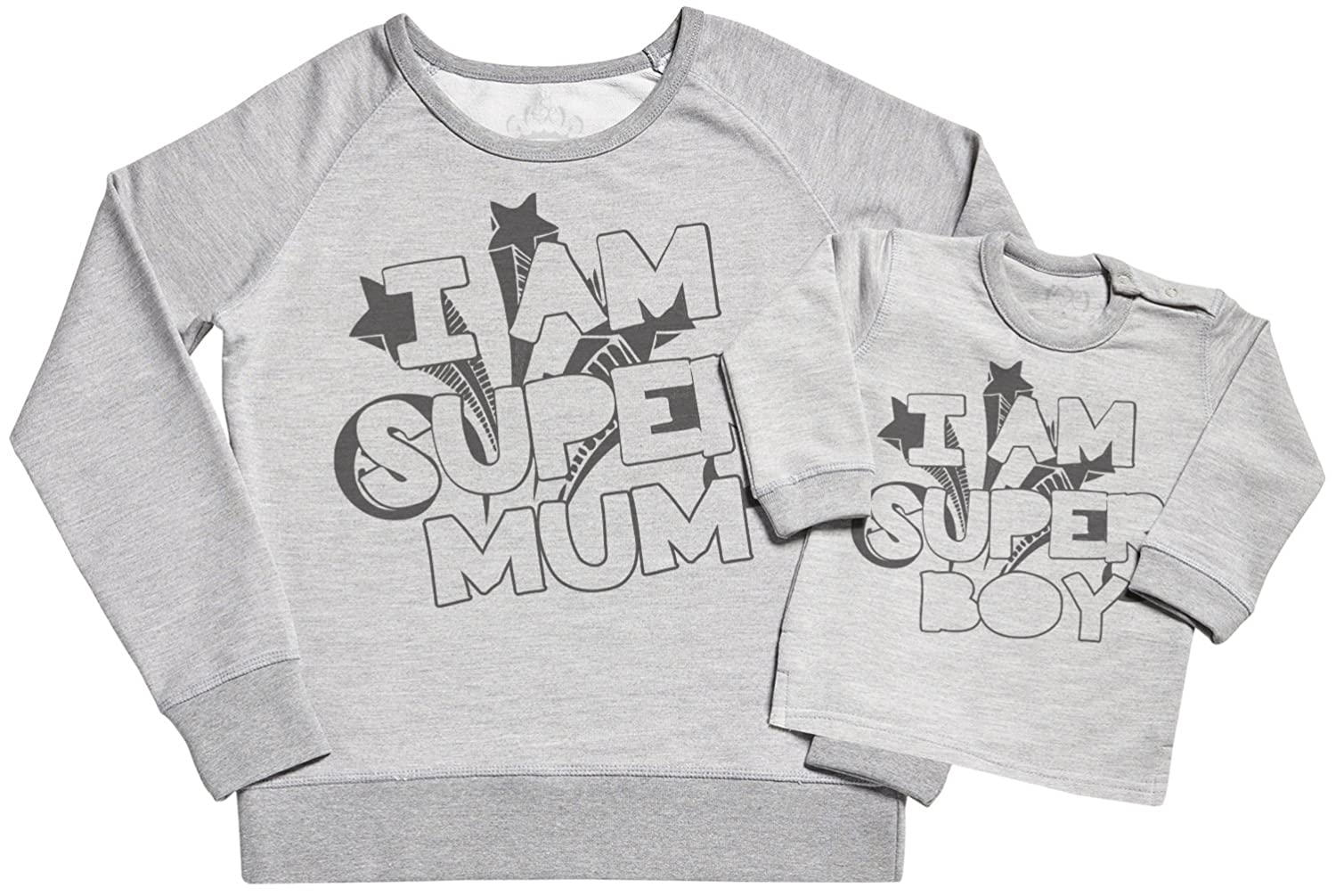 Gift for Mum /& Baby Sweater Gift Set SR I Am Super Mum /& I Am Super Boy Womens Sweater Mummy Gift