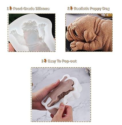 Amazon.com: 3D Pug Dog Silicone Fondant Cake Mold ...
