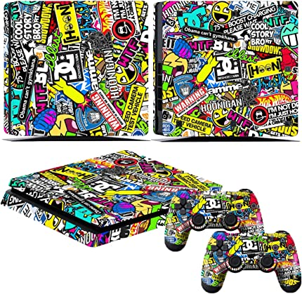 Amazon com: PS4 Slim Controller Skins- Decals for Playstation 4 Slim