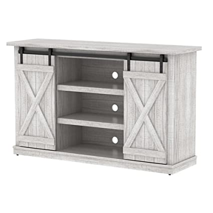 Industrial 54u0027u0027 TV Stand   Antique Rustic Look   Sliding Doors   Vintage  Design