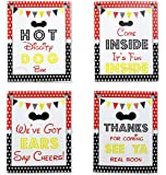 Mickey Party Sign Set of 4 - 8 x 10 inch Mickey Mouse Party Supplies Birthday Sign Printed in Card stock | Mickey Mouse…