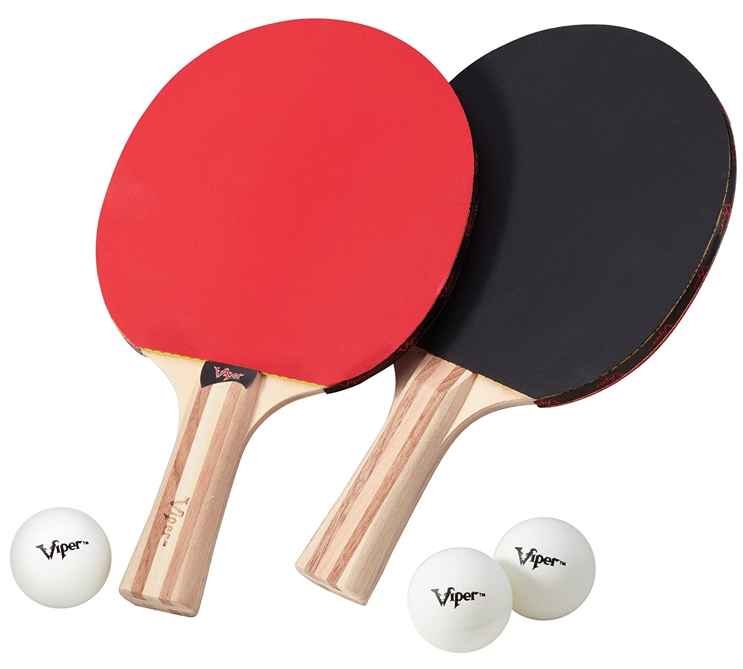 Amazon.com : Viper Table Tennis Accessory Set, 2 Rackets/Paddles and ...