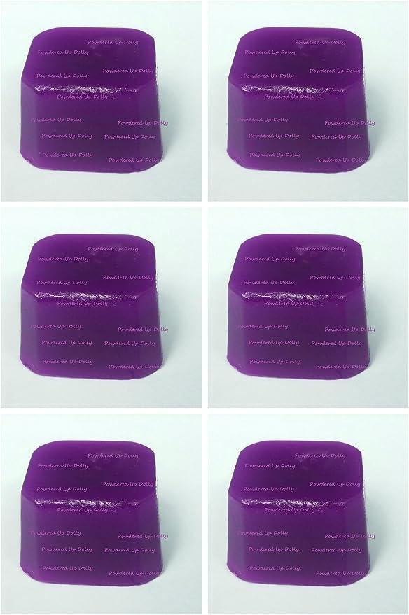 Lote de 6 color morado para jabón (tinte D.I.Y color bloque de ...